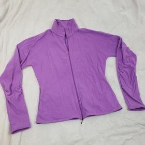 Fila Solid Purple Full Zipper Athleisure Jacket